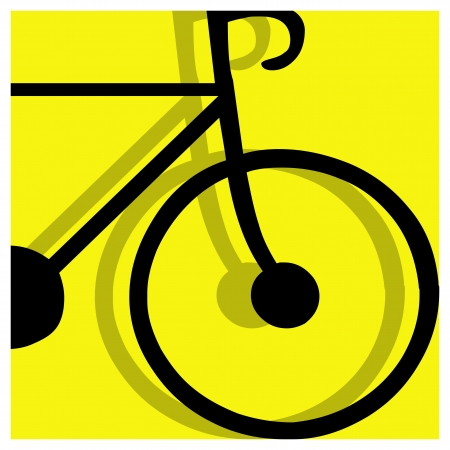 bicycling: bicycling vector pictogram yellow black