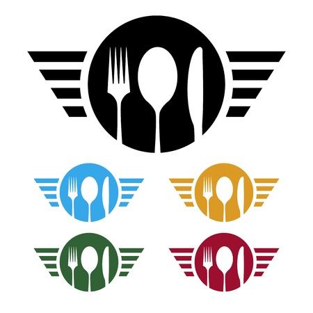 negocios comida: logotipo de la empresa de alimentos
