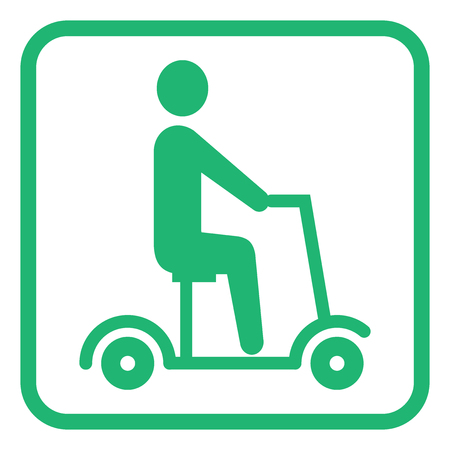 electric scooter pictogram icon vector illustration