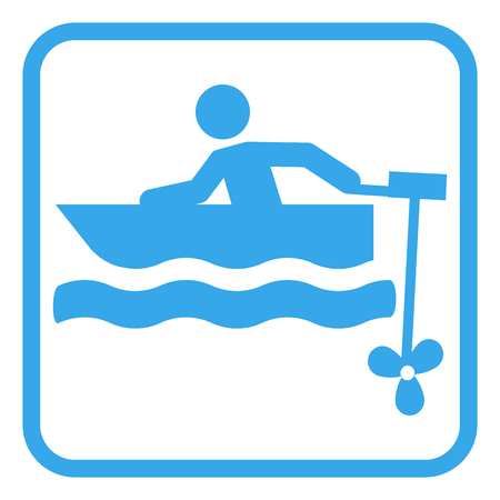 small motor boat pictogram icon vector illustration