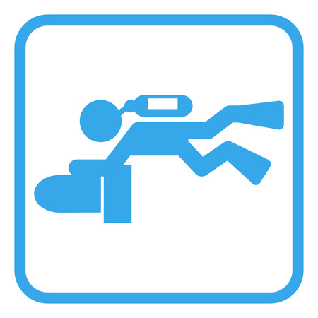 scuba scooter diver pictogram icon vector illustration