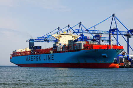 Maersk Edmonton container ship in DCT Gdansk
