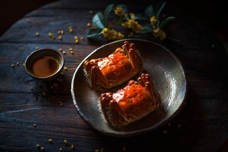 Taiwan table Yangcheng Lake hairy crabs 版權商用圖片