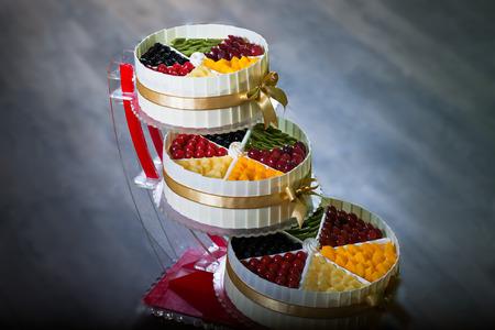 multilayer: Multi-layer fruit cake