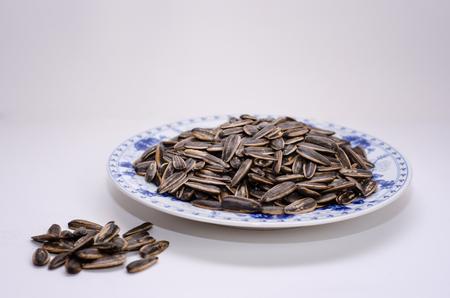 sunflower seeds: hot boiled sunflower seeds Stock Photo