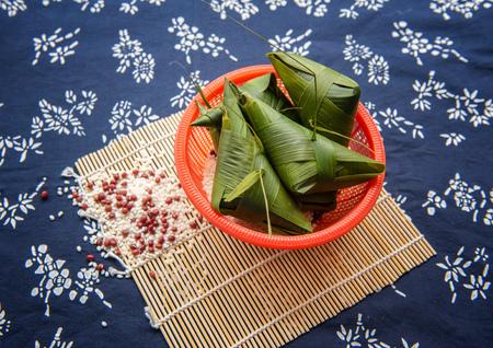 Chinese glutinous rice dumplings, Dragon Boat Festival food. Reklamní fotografie