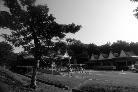 Highway toll house in Pedas, Negeri Sembilan Stock Photo