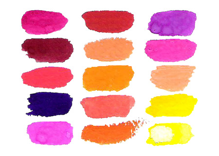 Colorful vector watercolor brush isolated on white. Vector