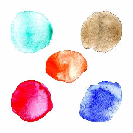 colors paint: Rainbow colors paint circles, vector set Illustration