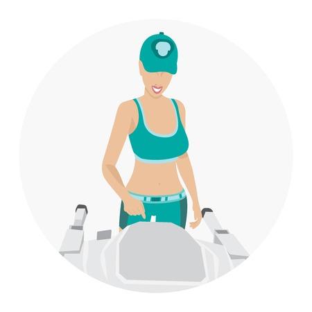 Sport woman - fitness Vector