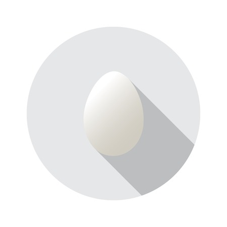 Realistic vector shape of egg. Easter egg shape and isolated on round background.Label design. Easter template Vector