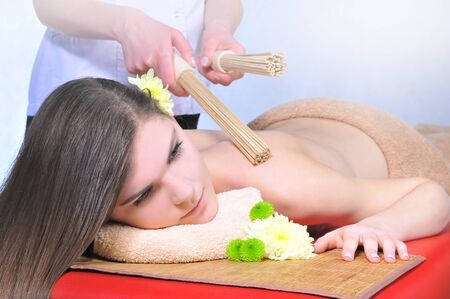 regeneration: massage and spa. Beautiful women care treatment, sticks, regeneration