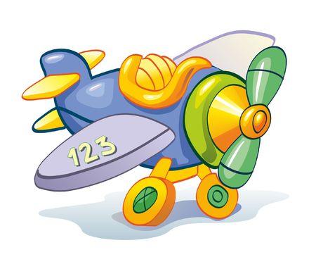 Children color plane Vector