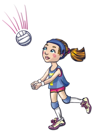 volleyball athlete girl Stock Vector - 8784577