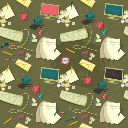 seamless vector pattern of office Vector
