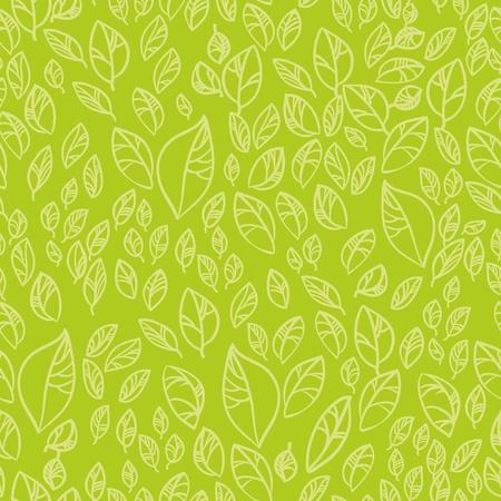 Fresh green leafs seamless pattern