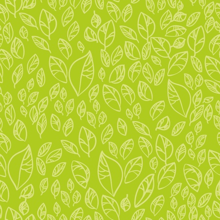 Fresh green leafs seamless pattern  Vector