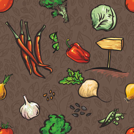 cucumbers: Seamless pattern with vegetables