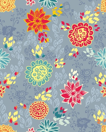 summery: Seamless floral pattern with  flower