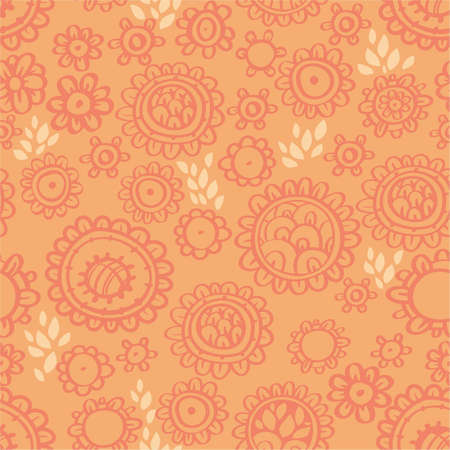 Stylish floral seamless pattern Stock Vector - 12770059