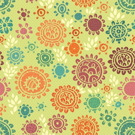 Seamless floral pattern with  flower Stock Vector - 12770063