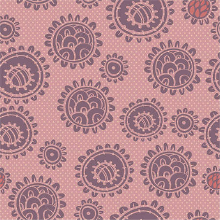 Seamless floral pattern with  flower