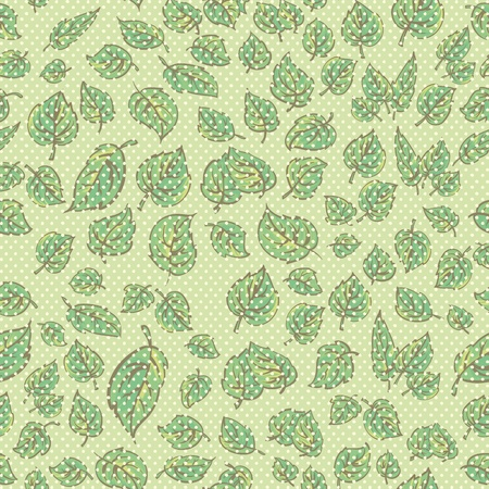 Seamless pattern with green abstract plants can be repeated and scaled in any size   Stock Vector - 13095311