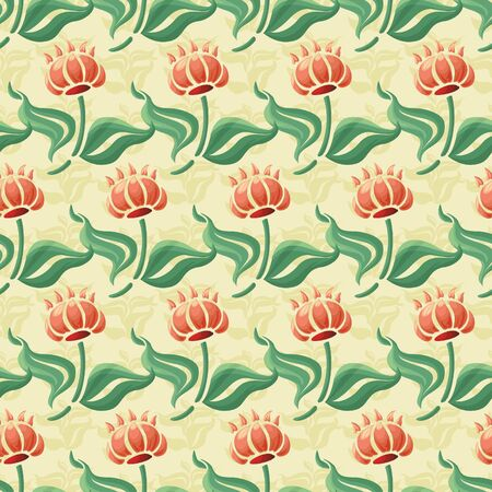 tapis: abstract flowers seamless pattern colorful flowers Illustration