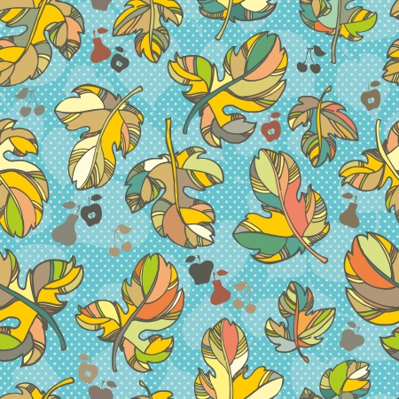 colorful autumn leaves. outlines and bright colors Vector