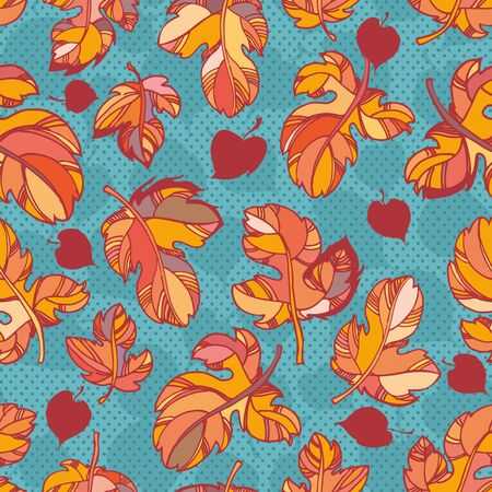 fale: colorful autumn leaves. outlines and bright colors