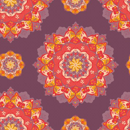 Ornamental round seamless floral lace pattern  Vector