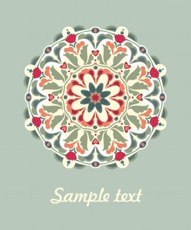 kaleidoscope: Ornamental round seamless floral lace pattern. vector Illustration