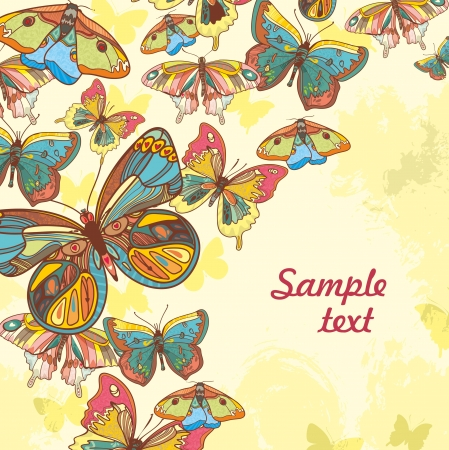 Abstract  vector  background with butterfly. artistic illustration Vector