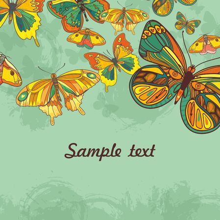 Abstract background with butterfly. artistic vector illustration Vector