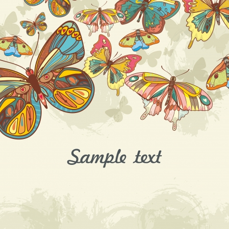 Abstract background with butterfly. artistic  vector  illustration