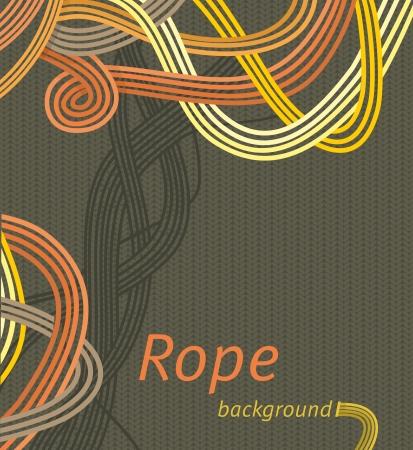 Vector line background design interweaving strands background braided rope