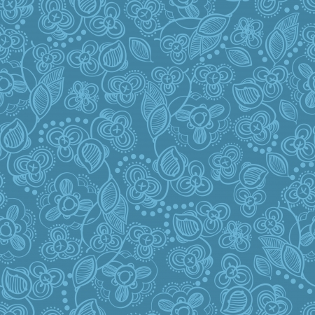 Seamless floral background with stylized flowers  Floral background  Seamless floral pattern Vector pattern  Background with flowers