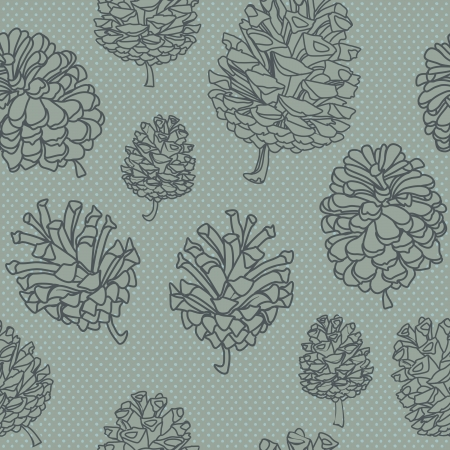 seamless vector background with cones.