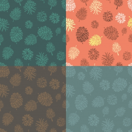 seamless vector background with cones. cute  patterns Vector