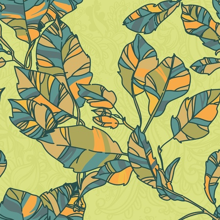 green  pattern with leaf,summer leaf background  Vector