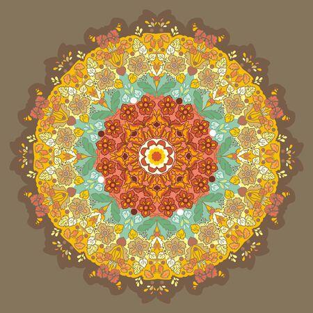 affluence: patr�n circular ornamentales
