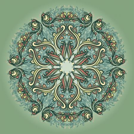 dessin tribal: Ornement rond motif floral dentelle kal�idoscopique motif floral, mandala