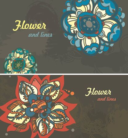 Folk motives abstract seamless floral vector pattern Vector