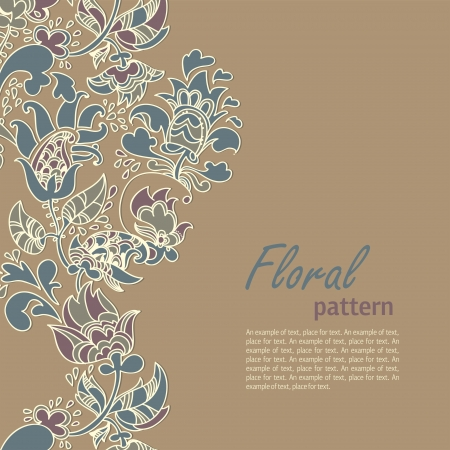 floral abstract background  stylized plants and leaves Vector