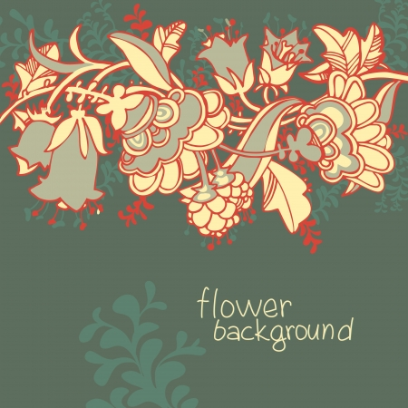 floral seamless dark  background  Stock Vector - 14480311