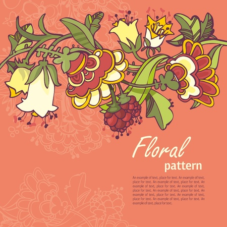 floral seamless pink background  Stock Vector - 14480313