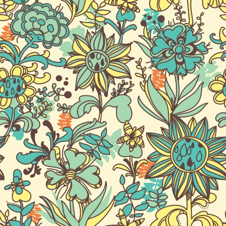 floral seamless bright pattern