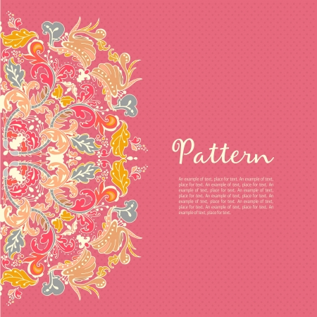 Ornamental round seamless lace pattern. Ornamental round floral lace pattern. kaleidoscopic floral pattern, mandala.