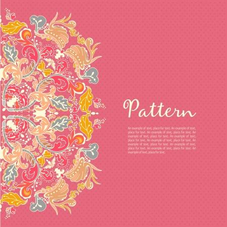 Ornamental round seamless lace pattern. Ornamental round floral lace pattern. kaleidoscopic floral pattern, mandala.