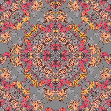 Ornamental round seamless lace pattern. Ornamental round floral lace pattern. kaleidoscopic floral pattern, mandala. Vector